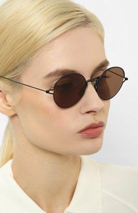 Женские солнцезащитные очки THOM BROWNE черного цвета, арт. TB-915-03 | Фото 2