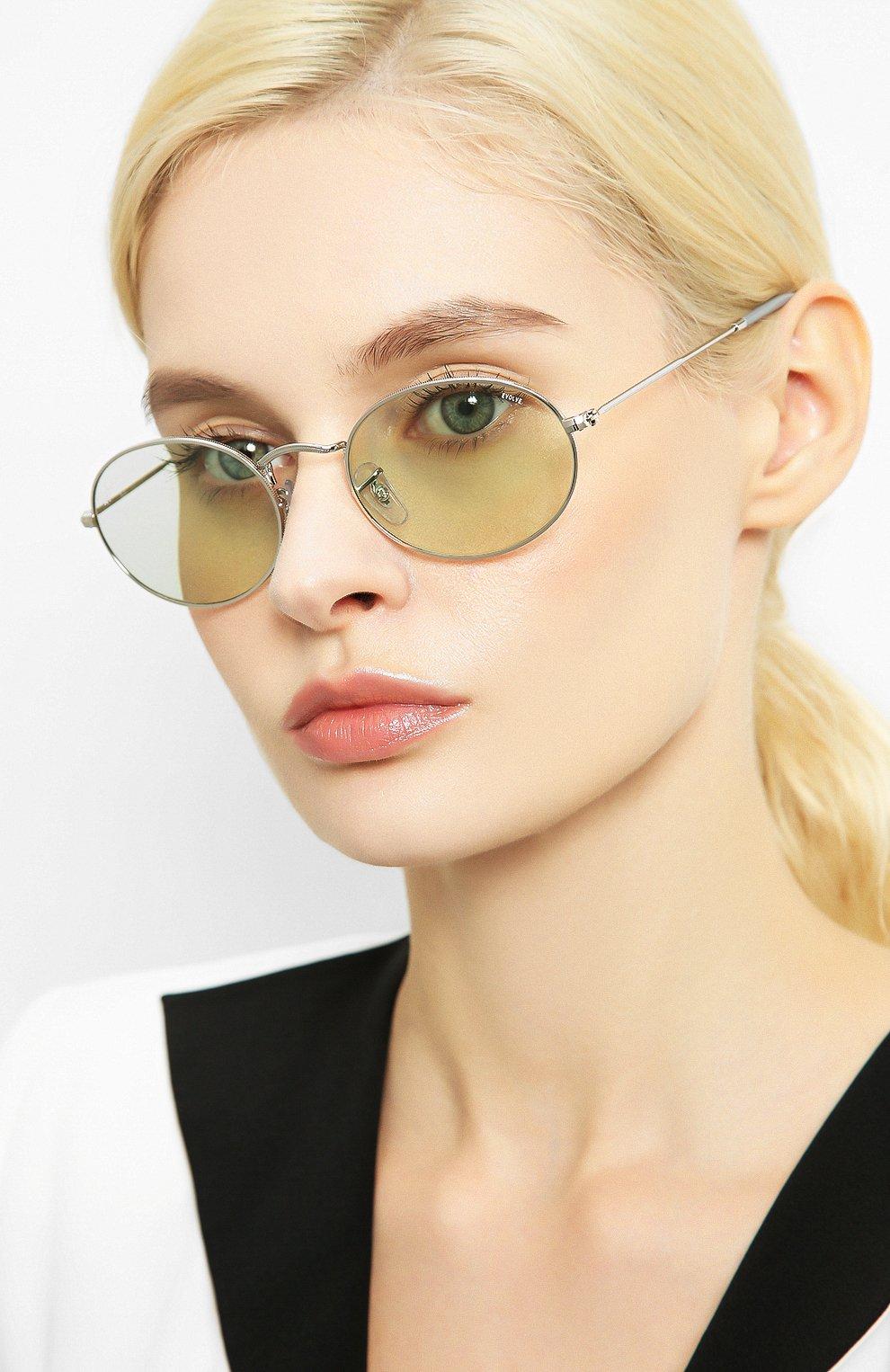Женские солнцезащитные очки RAY-BAN серебряного цвета, арт. 3547-003/T1   Фото 2