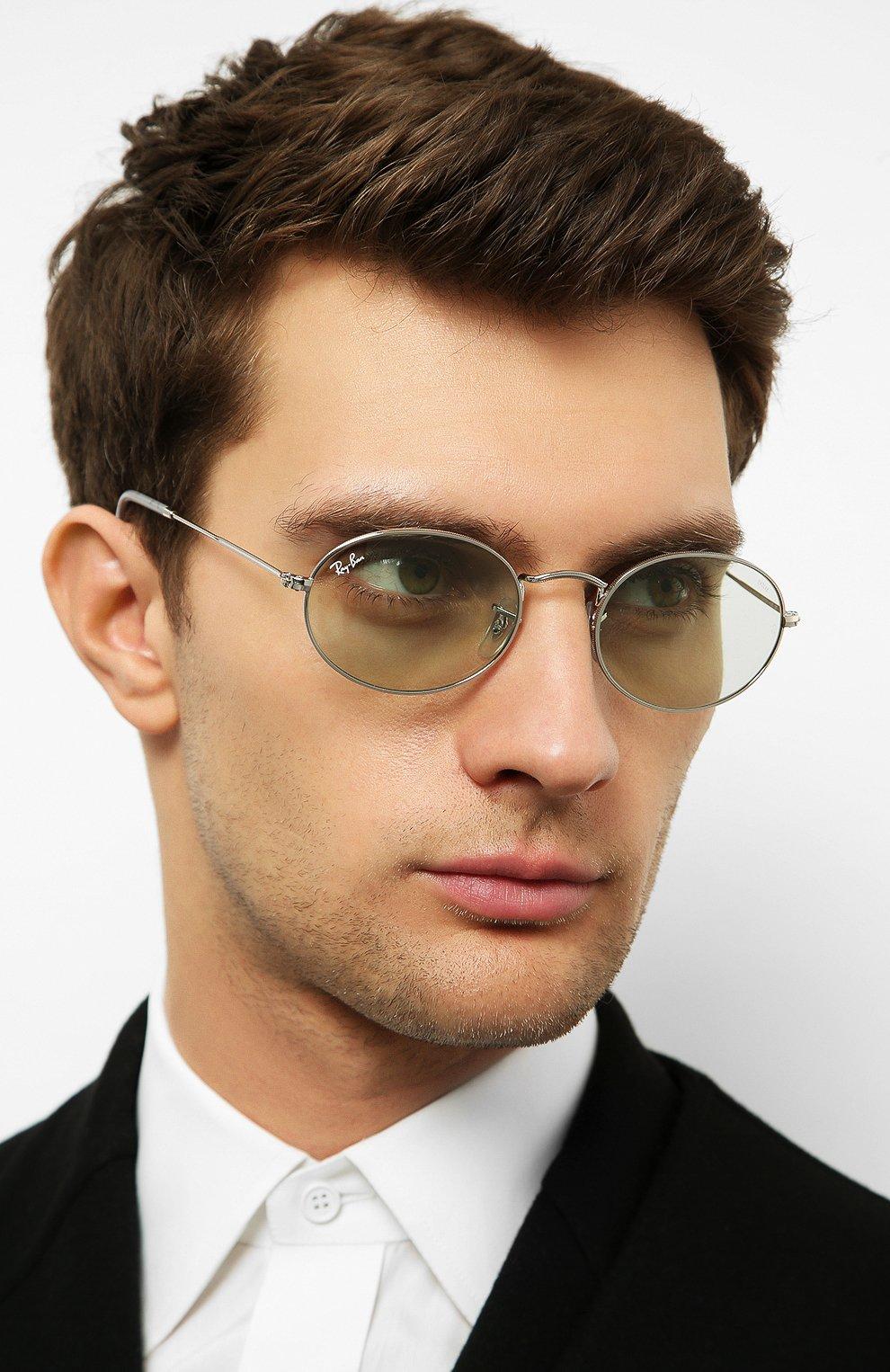 Женские солнцезащитные очки RAY-BAN серебряного цвета, арт. 3547-003/T1   Фото 3