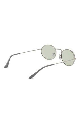 Женские солнцезащитные очки RAY-BAN серебряного цвета, арт. 3547-003/T1   Фото 5