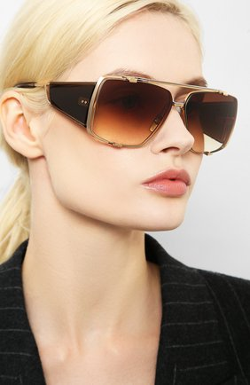 Женские солнцезащитные очки DITA золотого цвета, арт. S0ULINER-TW0/02 | Фото 2