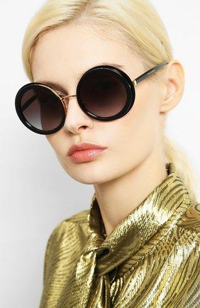 Мужские солнцезащитные очки DOLCE & GABBANA черного цвета, арт. 6127-501/8G | Фото 2