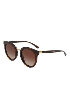 Мужские солнцезащитные очки DOLCE & GABBANA коричневого цвета, арт. 4371-502/13 | Фото 1