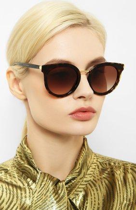 Мужские солнцезащитные очки DOLCE & GABBANA коричневого цвета, арт. 4371-502/13 | Фото 2