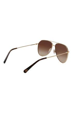 Женские солнцезащитные очки DOLCE & GABBANA золотого цвета, арт. 2244-02/13 | Фото 5
