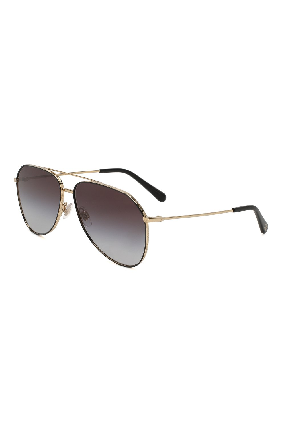 Женские солнцезащитные очки DOLCE & GABBANA золотого цвета, арт. 2244-13348G | Фото 1