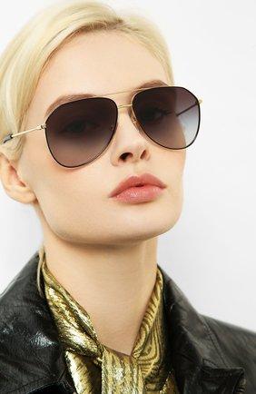 Женские солнцезащитные очки DOLCE & GABBANA золотого цвета, арт. 2244-13348G | Фото 2