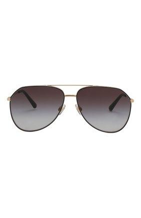 Женские солнцезащитные очки DOLCE & GABBANA золотого цвета, арт. 2244-13348G | Фото 4