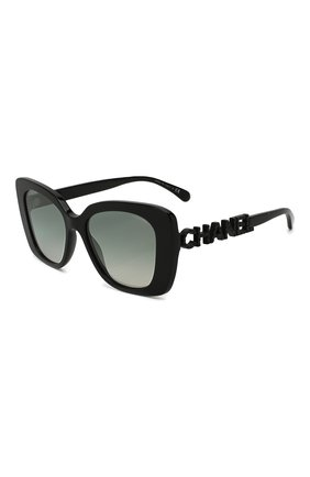 Мужские солнцезащитные очки CHANEL черного цвета, арт. 5422B-C50157   Фото 1