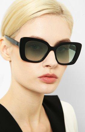Мужские солнцезащитные очки CHANEL черного цвета, арт. 5422B-C50157   Фото 2