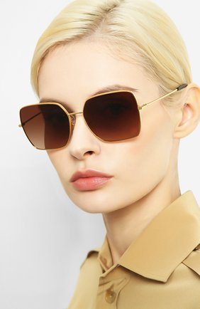 Женские солнцезащитные очки DOLCE & GABBANA золотого цвета, арт. 2242-02/13 | Фото 2