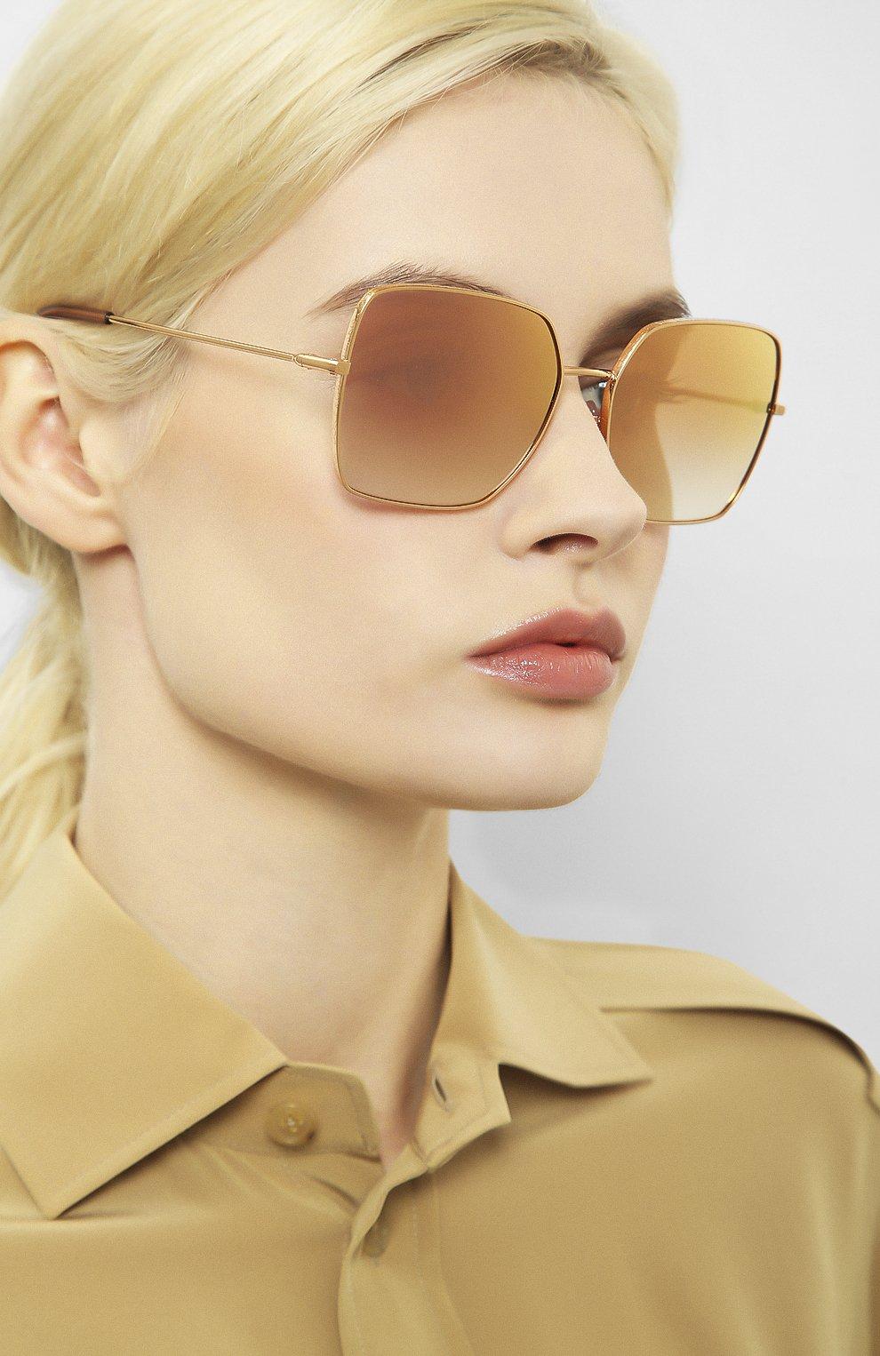 Женские солнцезащитные очки DOLCE & GABBANA розового цвета, арт. 2242-12986F | Фото 2