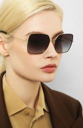 Женские солнцезащитные очки DOLCE & GABBANA черного цвета, арт. 2242-13348G | Фото 2