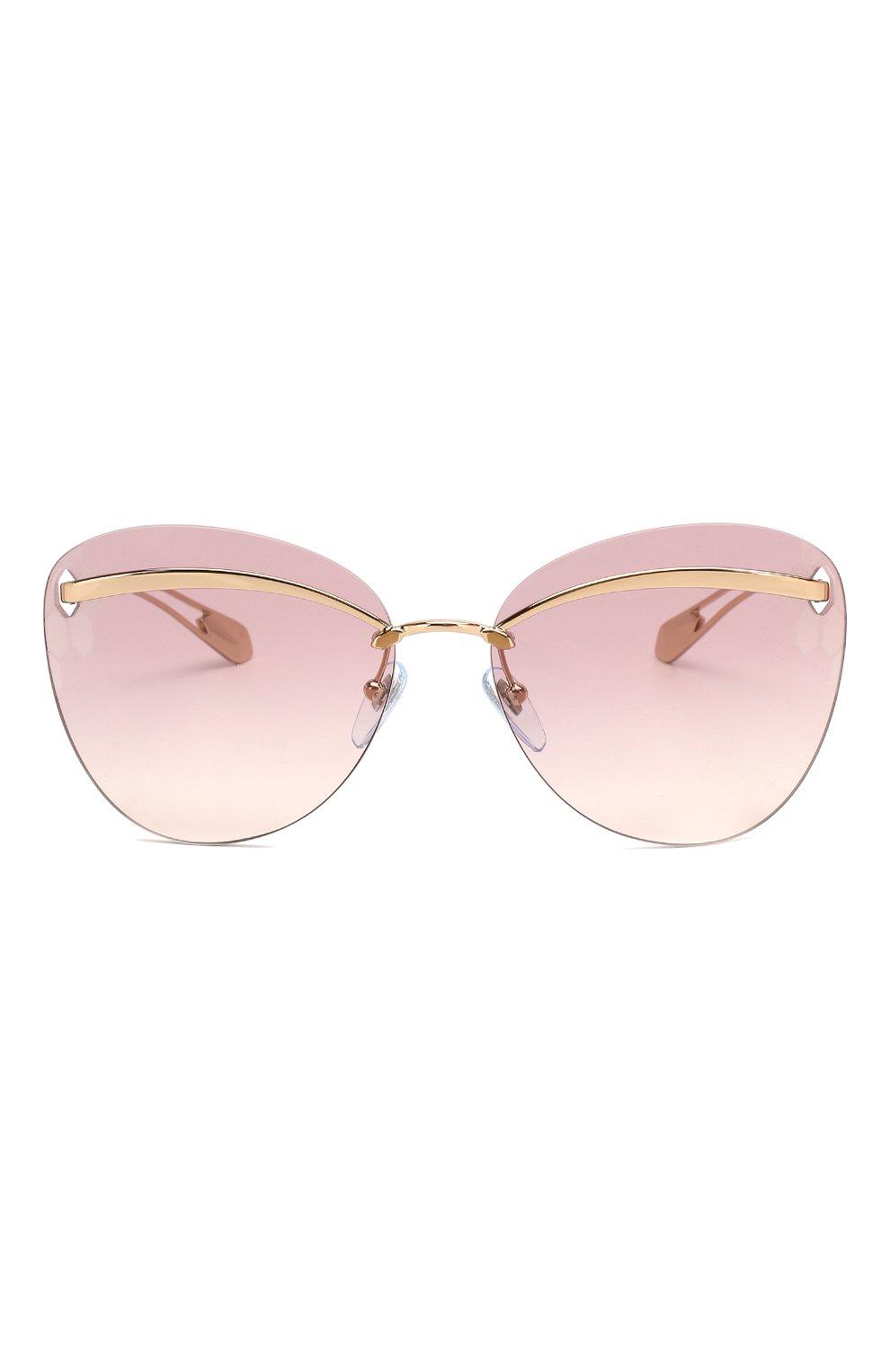 Женские солнцезащитные очки BVLGARI розового цвета, арт. 6130-20142E   Фото 3