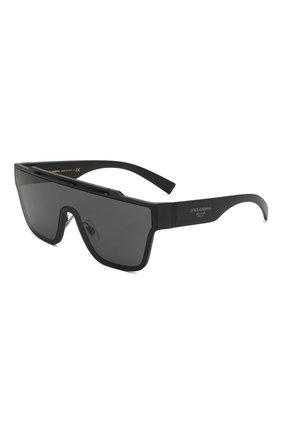 Женские солнцезащитные очки DOLCE & GABBANA черного цвета, арт. 6125-252587 | Фото 1 (Статус проверки: Проверена категория; Тип очков: С/з; Очки форма: Маска, D-форма; Оптика Гендер: оптика-унисекс)