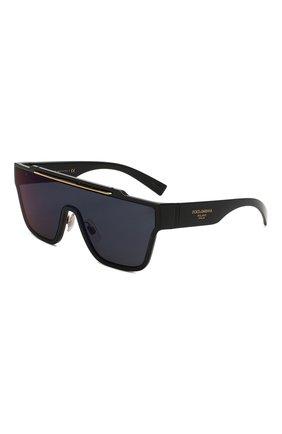 Женские солнцезащитные очки DOLCE & GABBANA черного цвета, арт. 6125-501/76 | Фото 1 (Статус проверки: Проверена категория; Тип очков: С/з; Оптика Гендер: оптика-унисекс; Очки форма: Маска, D-форма)