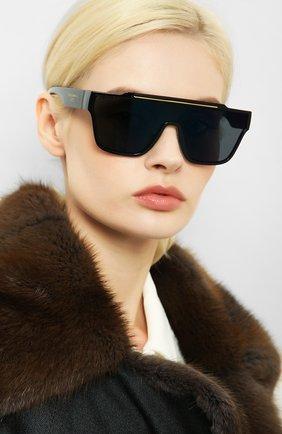 Женские солнцезащитные очки DOLCE & GABBANA черного цвета, арт. 6125-501/76 | Фото 2 (Статус проверки: Проверена категория; Тип очков: С/з; Оптика Гендер: оптика-унисекс; Очки форма: Маска, D-форма)