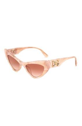 Мужские солнцезащитные очки DOLCE & GABBANA светло-розового цвета, арт. 4368F-323113 | Фото 1