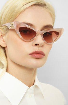 Мужские солнцезащитные очки DOLCE & GABBANA светло-розового цвета, арт. 4368F-323113 | Фото 2