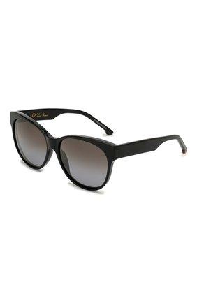 Мужские солнцезащитные очки LORO PIANA черного цвета, арт. FAI4929 | Фото 1