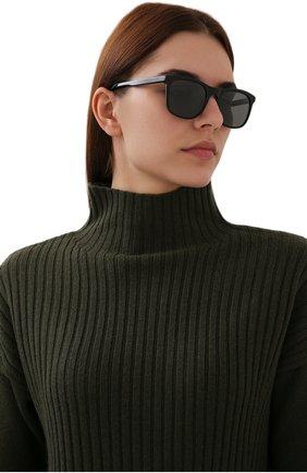 Женские солнцезащитные очки LORO PIANA черного цвета, арт. FAI4927   Фото 2 (Статус проверки: Проверена категория; Тип очков: С/з; Очки форма: Прямоугольные; Оптика Гендер: оптика-женское)