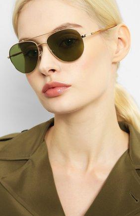 Мужские солнцезащитные очки LORO PIANA золотого цвета, арт. FAI4926 | Фото 2