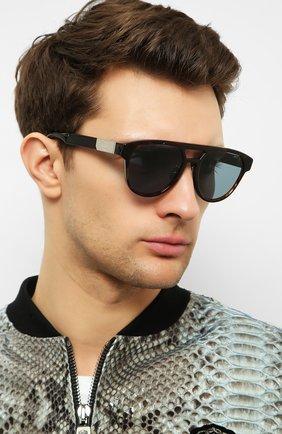 Мужские солнцезащитные очки BERLUTI коричневого цвета, арт. BL 40002U | Фото 2