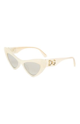 Мужские солнцезащитные очки DOLCE & GABBANA белого цвета, арт. 4368F-32326V | Фото 1