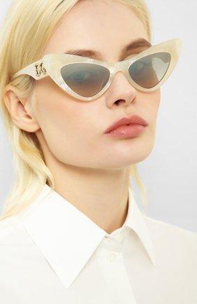 Мужские солнцезащитные очки DOLCE & GABBANA белого цвета, арт. 4368F-32326V | Фото 2