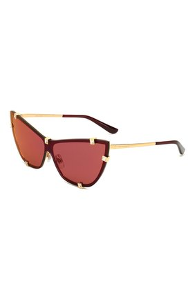 Женские солнцезащитные очки DOLCE & GABBANA бордового цвета, арт. 2247B-02/D0 | Фото 1 (Статус проверки: Проверена категория; Тип очков: С/з; Оптика Гендер: оптика-женское; Очки форма: Cat-eye)