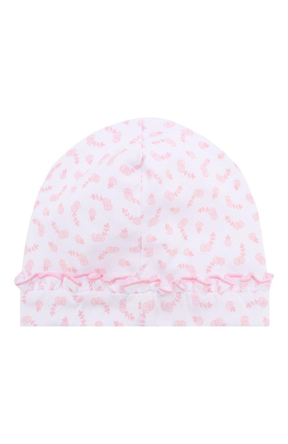 Детского шапка ballet duet MAGNOLIA BABY розового цвета, арт. 468-50R-PK   Фото 2 (Материал: Текстиль, Хлопок)