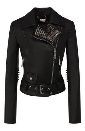 Женская кожаная куртка PHILIPP PLEIN черного цвета, арт. S20C WLB0664 PLE010N | Фото 1
