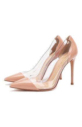 Женская комбинированные туфли plexi GIANVITO ROSSI розового цвета, арт. G20140.15RIC.VPXDAHX | Фото 1