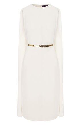 Женское платье с поясом RALPH LAUREN белого цвета, арт. 290753931 | Фото 1