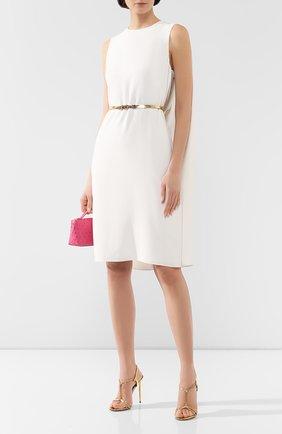 Женское платье с поясом RALPH LAUREN белого цвета, арт. 290753931 | Фото 2