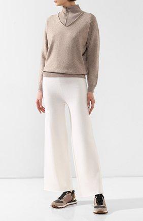 Женские кашемировые брюки NOT SHY белого цвета, арт. 3501032C | Фото 2
