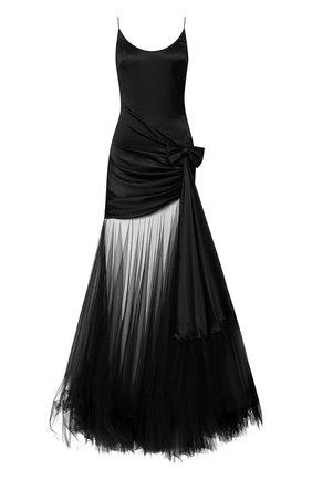 Женское шелковое платье ALESSANDRA RICH черного цвета, арт. FAB1881-F2569 | Фото 1