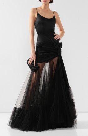 Женское шелковое платье ALESSANDRA RICH черного цвета, арт. FAB1881-F2569 | Фото 2
