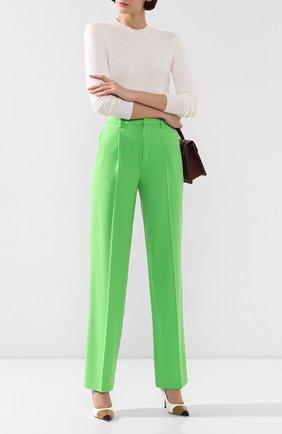 Женские шерстяные брюки RALPH LAUREN зеленого цвета, арт. 290788693 | Фото 2