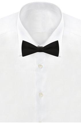 Мужской шелковый галстук-бабочка SAINT LAURENT черного цвета, арт. 485000/4Y011 | Фото 2