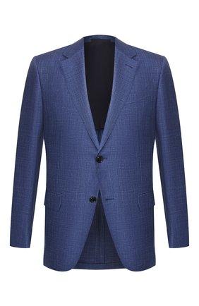 Мужской шерстяной пиджак ERMENEGILDO ZEGNA синего цвета, арт. 749128/15M220   Фото 1