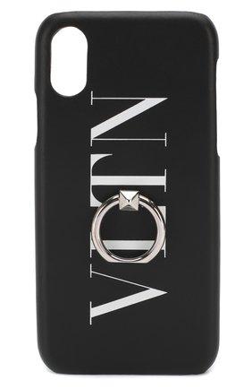 Мужской кожаный чехол для iphone x/xs VALENTINO черного цвета, арт. TY2P0379/FFL | Фото 1