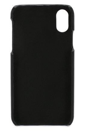 Мужской кожаный чехол для iphone x/xs VALENTINO черного цвета, арт. TY2P0379/FFL | Фото 2