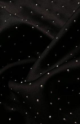 Мужской шелковый шарф SAINT LAURENT черного цвета, арт. 605099/4Y011 | Фото 2