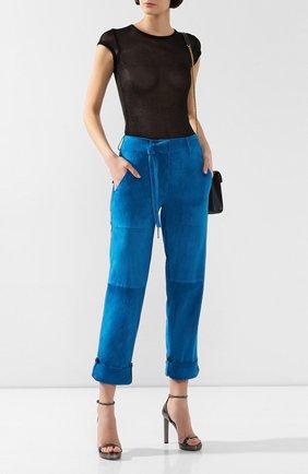 Замшевые брюки | Фото №2