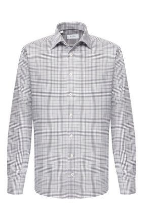 Мужская хлопковая сорочка ETON серого цвета, арт. 1000 00341   Фото 1