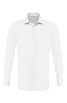 Мужская хлопковая сорочка LUIGI BORRELLI белого цвета, арт. EV08/ARCHILLE/TS10701 | Фото 1