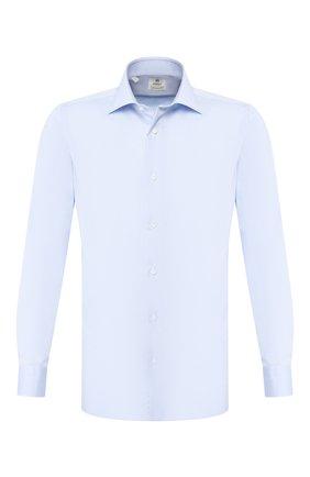 Мужская хлопковая сорочка LUIGI BORRELLI голубого цвета, арт. EV08/LUCIAN0/TS9180 | Фото 1