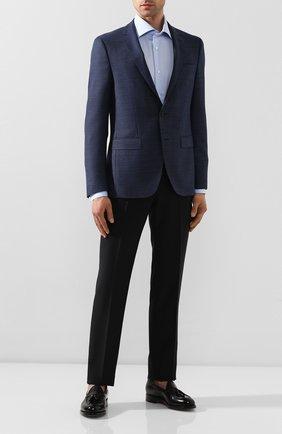 Мужская хлопковая сорочка LUIGI BORRELLI голубого цвета, арт. EV08/LUCIAN0/TS9180 | Фото 2