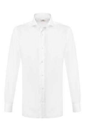 Мужская хлопковая сорочка LUIGI BORRELLI белого цвета, арт. EV08/FELICE/TS9181 | Фото 1